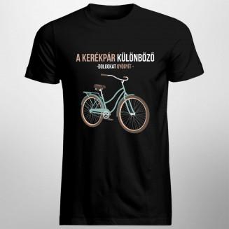 A kerékpár különböző dolgokat gyógyít