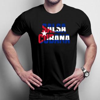 Salsa cubana - Férfi póló felirattal