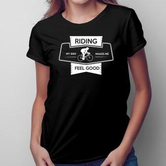 Riding my bike - Női póló felirattal