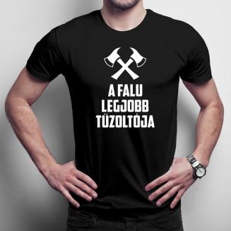A falu legjobb  tűzoltója - Férfi póló felirattal