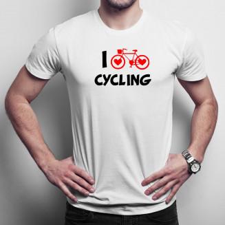 I love cycling - Férfi póló felirattal