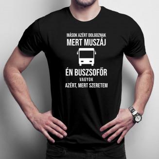 Mások azért dolgoznak, mert muszáj, én buszsofőr vagyok azért, mert szeretem